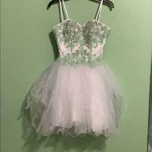 Mint green and white cupcake dress